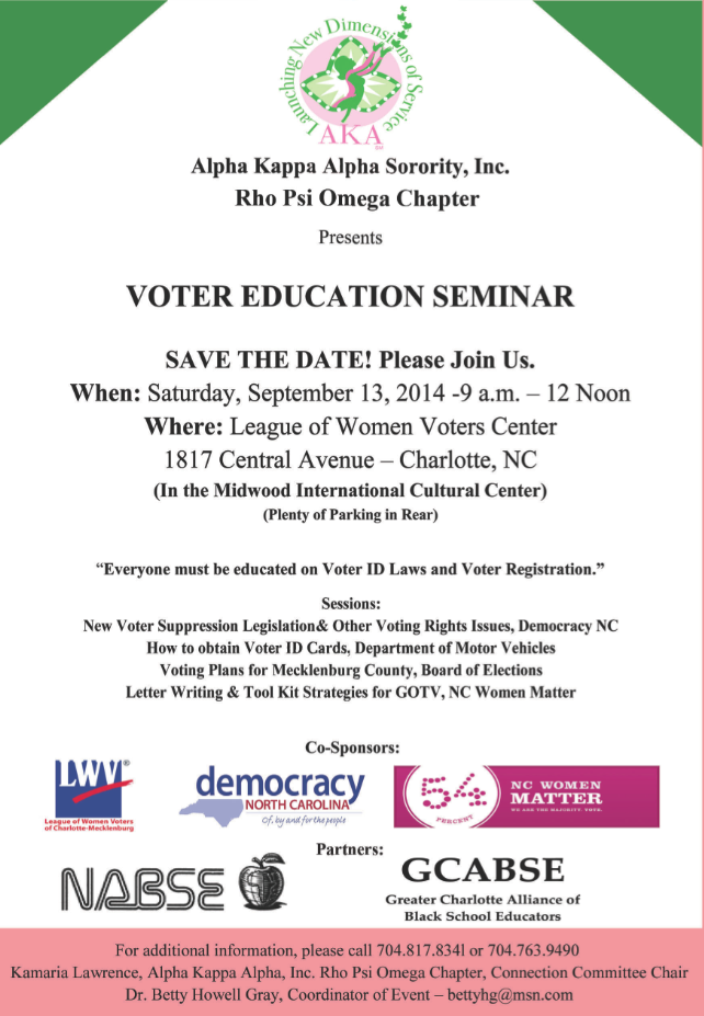 Voter Educaton Seminar